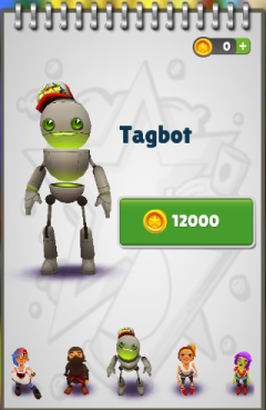 Subway Surfers: Tagbot | Subway Surfers Games